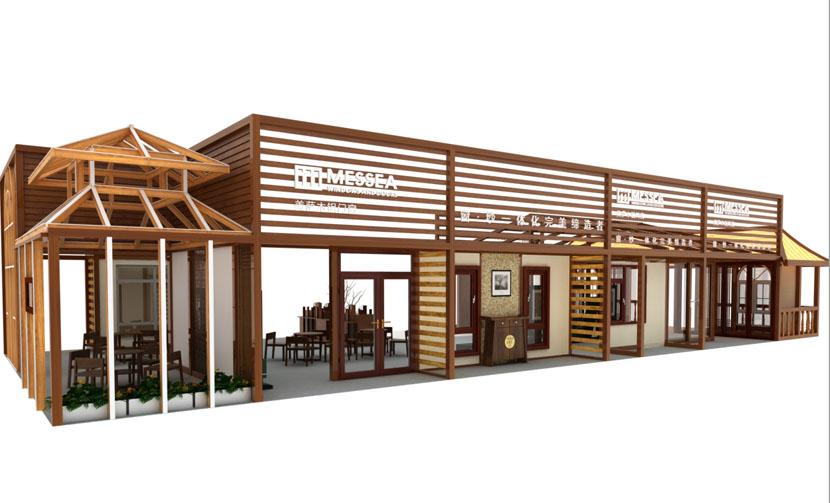 展台结构 封闭结构 展台色调 木料原色 展台风格 中式古典